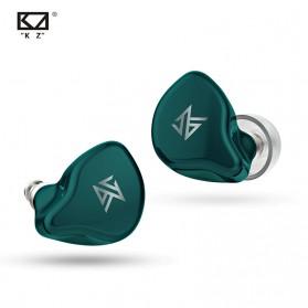 Knowledge Zenith TWS True Wireless Earphone Bluetooth 5.0 Hybrid Driver 1DD+1BA with Charging Dock - KZ-S1 - Green - 3