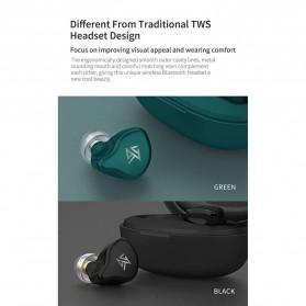 Knowledge Zenith TWS True Wireless Earphone Bluetooth 5.0 Hybrid Driver 1DD+1BA with Charging Dock - KZ-S1 - Green - 6
