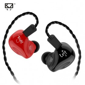 Knowledge Zenith Earphone HiFi Dynamic Driver Noise Cancelling with Mic - KZ-ZS4 - Black - 2