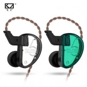 Knowledge Zenith Earphone HiFi 3BA Driver with Mic - KZ-AS06 - Green - 2