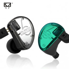 Knowledge Zenith Earphone HiFi 3BA Driver with Mic - KZ-AS06 - Green - 3