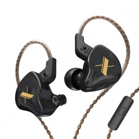 Knowledge Zenith Sports Earphone HiFi Dynamic Driver with Mic - KZ-EDX - Black