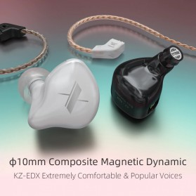 Knowledge Zenith Sports Earphone HiFi Dynamic Driver with Mic - KZ-EDX - Black - 5