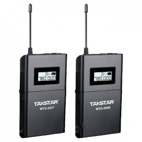 Takstar Headset UHF Wireless Tour Guide System 1 Receiver 1 Transmitter - WTG-500 - Black - 2