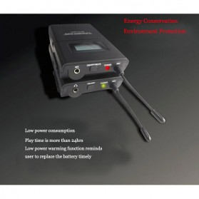 Takstar Headset UHF Wireless Tour Guide System 1 Receiver 1 Transmitter - WTG-500 - Black - 3