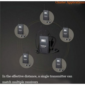 Takstar Headset UHF Wireless Tour Guide System 1 Receiver 1 Transmitter - WTG-500 - Black - 7