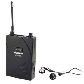 Takstar UHF Wireless Tour Guide System 1 Receiver 1 Transmitter - UHF-938 - Black - 3