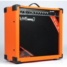 Live Music TG-60R Electric Guitar Amplifier Reverberation 3 Port 60W - Black/Orange