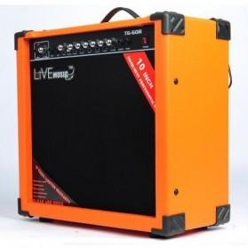 Live Music TG-60R Electric Guitar Amplifier Reverberation 3 Port 60W - Black/Orange - 2
