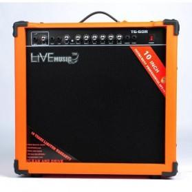 Live Music TG-60R Electric Guitar Amplifier Reverberation 3 Port 60W - Black/Orange - 3