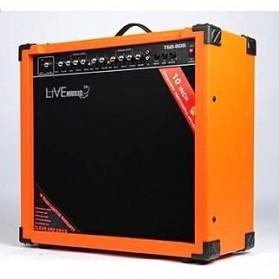 Live Music TG-80W Electric Guitar Amplifier Reverberation 2 Port 80W - Black/Orange - 2