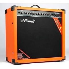 Live Music TG-80W Electric Guitar Amplifier Reverberation 2 Port 80W - Black/Orange - 3