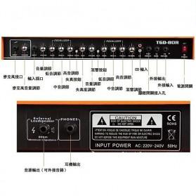 Live Music TG-80W Electric Guitar Amplifier Reverberation 2 Port 80W - Black/Orange - 4