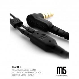 Brainwavz M5 Earphones - Black - 2