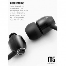 Brainwavz M5 Earphones - Black - 4