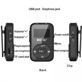 Ruizu X26 Sport Bluetooth HiFi DAP MP3 Player 8GB - Black - 5