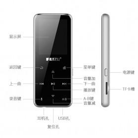 Ruizu X16 Bluetooth HiFi DAP MP3 Player 8GB - Black - 8