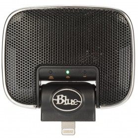 Blue Mikey Digital Microphone Lightning Connection for iPhone - Black