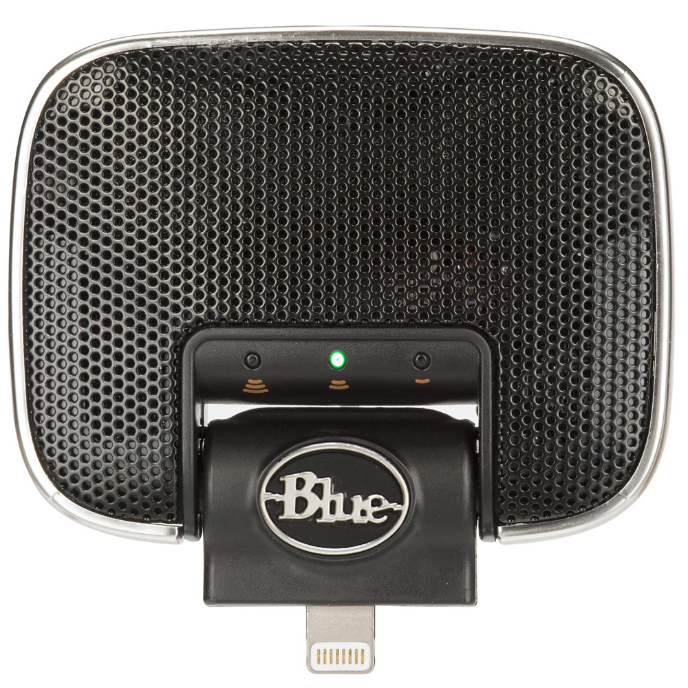 Blue Mikey Digital Microphone Lightning Connection For Iphone Paket  Bb 1 Plus Tas Black