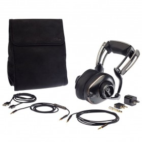 Headphone & Headset Bluetooth - Blue Mo-Fi Portable Headphone Built-in HiFi Audiophile Amp - Black