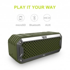 ZEALOT Bluetooth Speaker Waterproof Power Bank 5200mAh - S6 - Green - 2