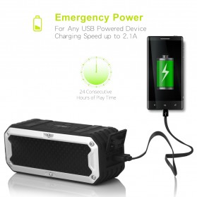 ZEALOT Bluetooth Speaker Waterproof Power Bank 5200mAh - S6 - Green - 4