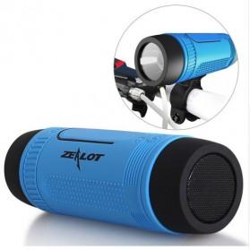 Zealot Bluetooth Speaker With Flashlight 4000mAh Power Bank - S1 - Gray - 2
