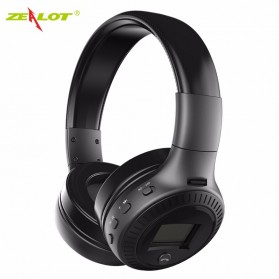 Zealot B19 Wireless Headset Bluetooth Headphone with TF & FM Radio - Black
