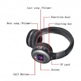 Zealot B19 Wireless Headset Bluetooth Headphone with TF & FM Radio - Black - 4