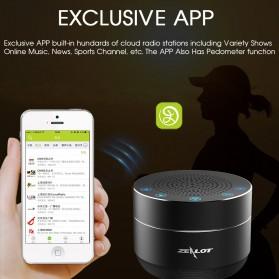 Zealot Mini Portable Bluetooth Speaker Super Bass - S19 - Black - 3