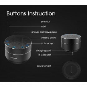 Zealot Mini Portable Bluetooth Speaker Super Bass - S19 - Black - 6