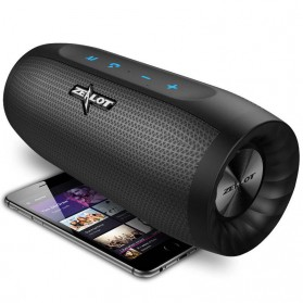 Zealot S16 Bluetooth Speaker Dual Bass dengan Powerbank 4000mAh - Black
