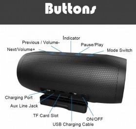 Zealot S16 Bluetooth Speaker Dual Bass dengan Powerbank 4000mAh - Black - 2