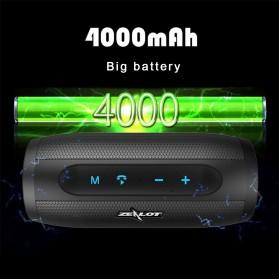 Zealot S16 Bluetooth Speaker Dual Bass dengan Powerbank 4000mAh - Black - 6