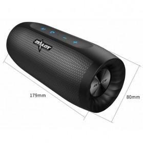 Zealot S16 Bluetooth Speaker Dual Bass dengan Powerbank 4000mAh - Black - 10