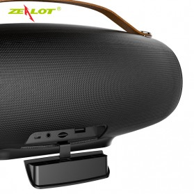 Zealot Fanatic Outdoor Portable Bluetooth Speaker Boombox with Powerbank 4000mAh - S27 - Black - 5
