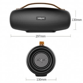 Zealot Fanatic Outdoor Portable Bluetooth Speaker Boombox with Powerbank 4000mAh - S27 - Black - 6