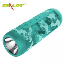 Zealot Portable Bluetooth Speaker with Powerbank 4000mAh + Senter LED - S22 - Camouflage - 1