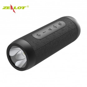 Zealot Portable Bluetooth Speaker with Powerbank 4000mAh + Senter LED - S22 - Black