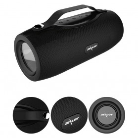 Zealot Portable Bluetooth Speaker with Powerbank + Senter LED - S29 - Black - 2