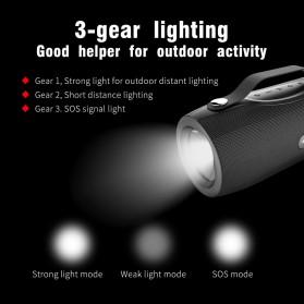 Zealot Portable Bluetooth Speaker with Powerbank + Senter LED - S29 - Black - 3