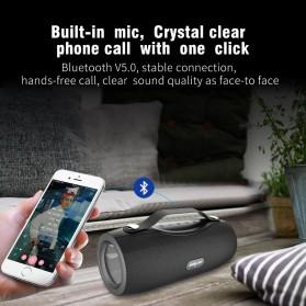 Zealot Portable Bluetooth Speaker with Powerbank + Senter LED - S29 - Black - 4