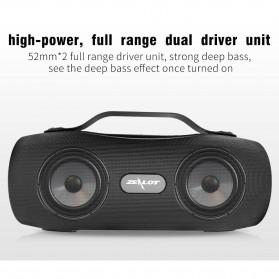 Zealot Portable Bluetooth Speaker with Powerbank + Senter LED - S29 - Black - 8