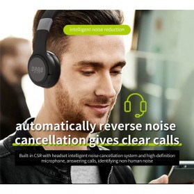Zealot B28 Wireless Headset Headphone Bluetooth 5.0 with Mic - Black - 8