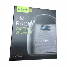 Zealot Portable Bluetooth Speaker Super Bass FM Radio - S42 - Black - 13