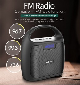 Zealot Portable Bluetooth Speaker Super Bass FM Radio - S42 - Black - 7