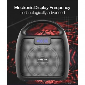 Zealot Portable Bluetooth Speaker Super Bass FM Radio - S42 - Black - 8