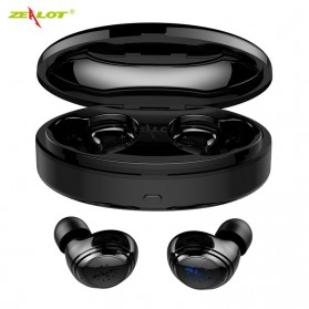 Zealot TWS Earphone True Wireless Bluetooth 5.0 with Charging Dock - H19 - Black