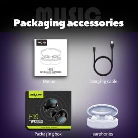 Zealot TWS Earphone True Wireless Bluetooth 5.0 with Charging Dock - H19 - Black - 10