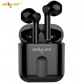 Zealot TWS Earphone True Wireless Bluetooth 5.0 with Charging Dock - T2 - Black
